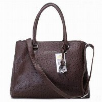 Michael Kors Ostrich Tote Bedford Coffee Women Bags
