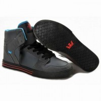 supra vaider high tops grey black men skate sneakers for sale