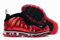 nike air foamposite max red and black