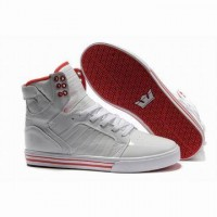 supra skytop high top white red online for cheap