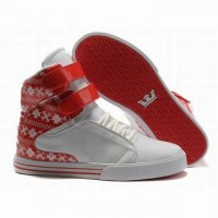white and red supra tk skate wrap shoes