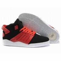 discount supra skytop iii red and black suede skate shoes on sale