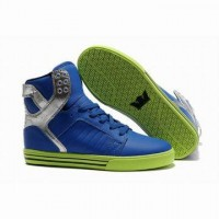 men supra skytop blue and lime green on sale