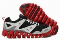 reebok zig return sneakers black red white