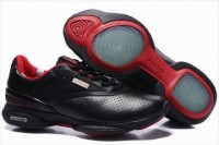 woemns reebok easytone curve leather shoes red and black