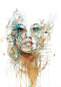Portraits Drawn with Tea, Vodka, Whiskey and Ink by Carne Griffiths | Colossal