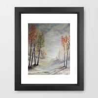 Peace among the Birch Trees Framed Art Print by RokinRonda | Society6