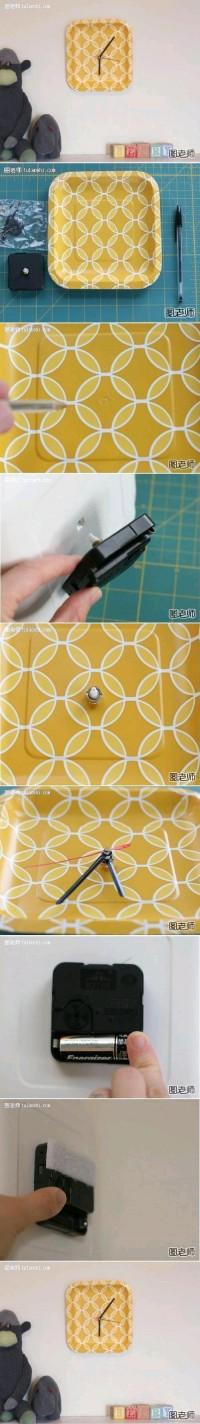 DIY Paper Plate Clock DIY Projects | UsefulDIY.com