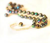 Colorful Bracelet beads beadwork crochet by selenayselenay
