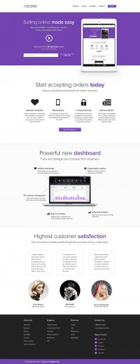 Ascend - E-Commerce Service Template (PSD) - Designer First