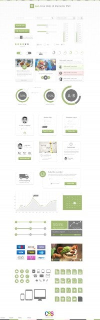 Leo – Free Web UI Elements (PSD) - Designer First