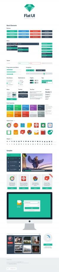 Flat UI (PSD/HTML) - Designer First