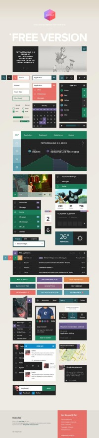 Square UI - User Interface Kit (PSD) - Designer First
