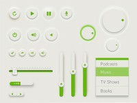 Green UI Kit (PSD) - Designer First