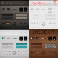 4in1 UI Kit (PSD) - Designer First