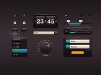 Dark Glossy UI (PSD) - Designer First