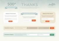 Newsletter Signup Forms (PSD) - Designer First