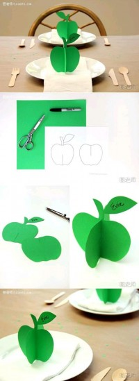 DIY 3D Paper Apple Ornament DIY Projects | UsefulDIY.com