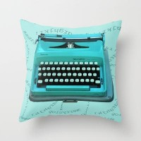 Typing 101 Throw Pillow by Nina May | Society6