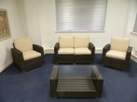 Hawaiian Two Seater Sofa+2 Armchairs+Coffee Table Deal Sofa Sets GARDEN