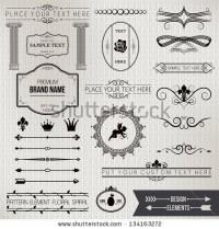 Design Elements Part 1 Stock Vector 134163272 : Shutterstock