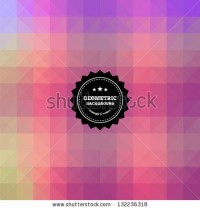 Retro, Vintage Geometric Background. Stock Vector 132236318 : Shutterstock