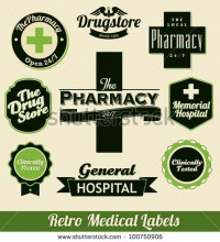 Retro Medical Labels Stock Vector 100750906 : Shutterstock