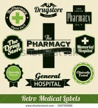 Retro Medical Labels Stock Vector 100750906 : Shutterstock