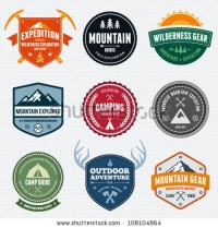 Set Of Mountain Adventure And Expedition Logo Badges Stock Vector 108104864 : Shutterstock