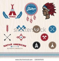 Set Of Native American Tribal Inspired Designs And Icons Stock Vector 106597835 : Shutterstock