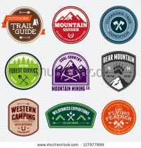 Set Of Outdoor Adventure And Expedition Logo Badges Stock Vector 127877999 : Shutterstock