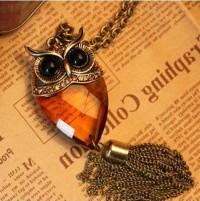 Gorgeous Glass Owl Pendant