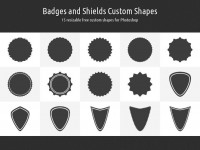 Bagdes and Shields Custom Shapes | Webdesigner Lab