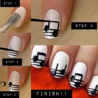 DIY Music Notes Nail Design Do It Yourself Fashion Tips | DIY Fashion Projects