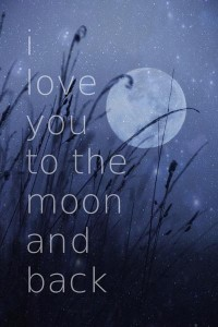 I love you to the moon and back Art Print by SUNLIGHT STUDIOS | Society6