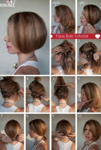 DIY Faux Bob Hairstyle Do It Yourself Fashion Tips | DIY Fashion Projects