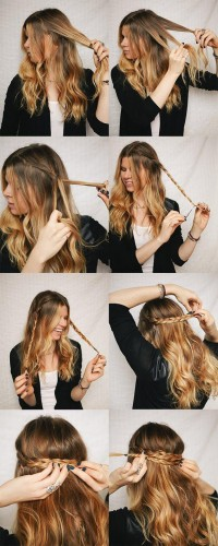 DIY Half Up Braided Crown Hairstyle Do It Yourself Fashion Tips | DIY Fashion Projects