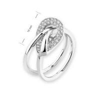 White Gold Geometric Diamond Ring