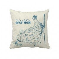 Vintage mom and child - Best Mom Eve Throw Pillow from Zazzle.com