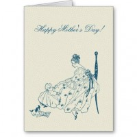 Vintage mom and child - Happy Mother's Day Cards from Zazzle.com