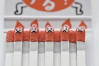 Matchsticks as Canvas by Kokeshi Match   1 Design Per Day