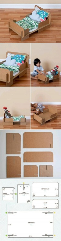 DIY Cardboard Bed DIY Projects | UsefulDIY.com