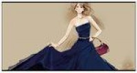 couture midnight blue gown by *BreeLeman