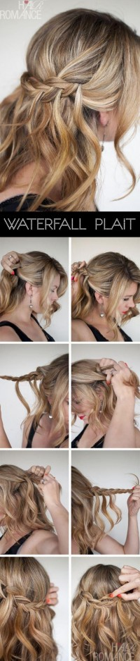 DIY Waterfall Plait Hairstyle Do It Yourself Fashion Tips | DIY Fashion Projects