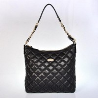 Kate Spade Gold Coast Shimmer Medium Serena Quilted Shoulder Bags Black Store