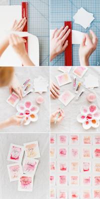 DIY Wedding Watercolor Escort Card | DIY Wedding Watercolor Ideas