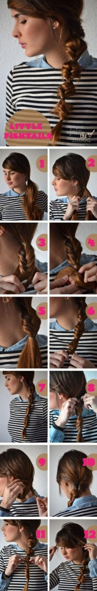 DIY Little Fishtails Hairstyle Do It Yourself Fashion Tips | DIY Fashion Projects