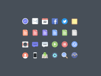 Free Flat Icons by Jan Dvo?ák