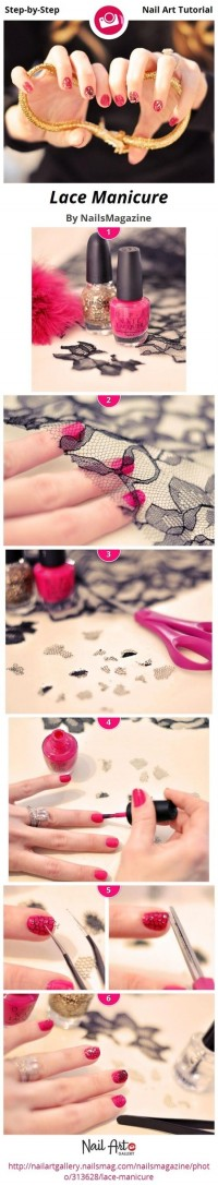 DIY Lace Nail Design Do It Yourself Fashion Tips | DIY Fashion Projects