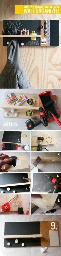 DIY Chalkboard Wall Organizer DIY Projects | UsefulDIY.com